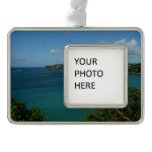 Coast of St. Lucia Caribbean Vacation Photo Christmas Ornament