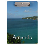 Coast of St. Lucia Caribbean Vacation Photo Clipboard