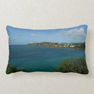 Coast of St. Lucia Caribbean Vacation Photo Lumbar Pillow