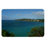 Coast of St. Lucia Caribbean Vacation Photo Magnet