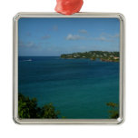 Coast of St. Lucia Caribbean Vacation Photo Metal Ornament