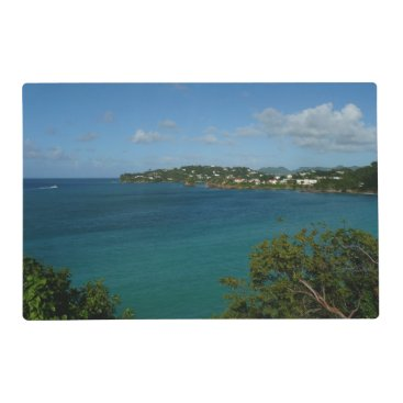 Coast of St. Lucia Caribbean Vacation Photo Placemat
