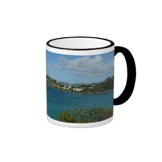 Coast of St. Lucia Caribbean Vacation Photo Ringer Mug