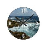 Coast of St. Lucia Round Clock