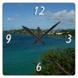 Coast of St. Lucia Wall Clock
