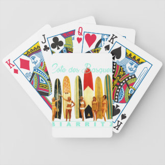 Coast of the Biarritz Basques Bicycle Playing Cards