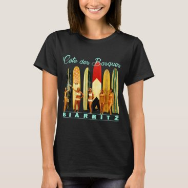 Beach Themed Coast of the Biarritz Basques T-Shirt