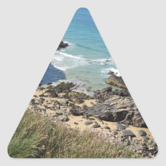 Coast Path nr Padstow, Cornwall Triangle Stickers