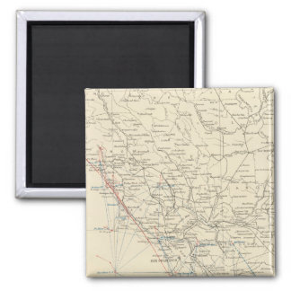 Coast Range Middle California 2 Inch Square Magnet