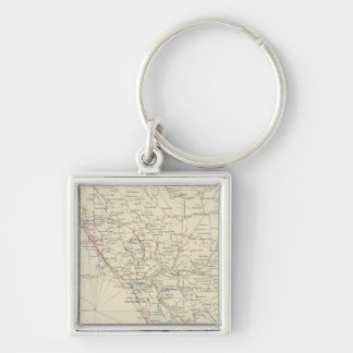 Coast Range Middle California Silver-Colored Square Keychain