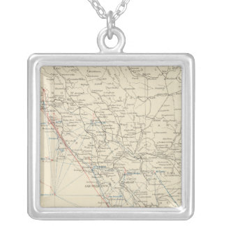 Coast Range Middle California Silver Plated Necklace