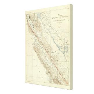Coast Ranges showing San Andreas Rift Canvas Print