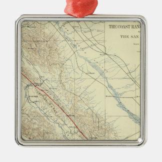 Coast Ranges showing San Andreas Rift Metal Ornament