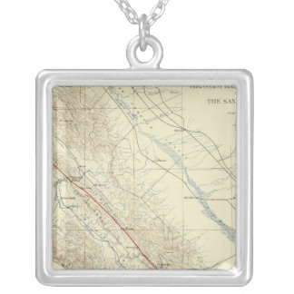 Coast Ranges showing San Andreas Rift Personalized Necklace