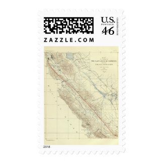 Coast Ranges showing San Andreas Rift Stamps