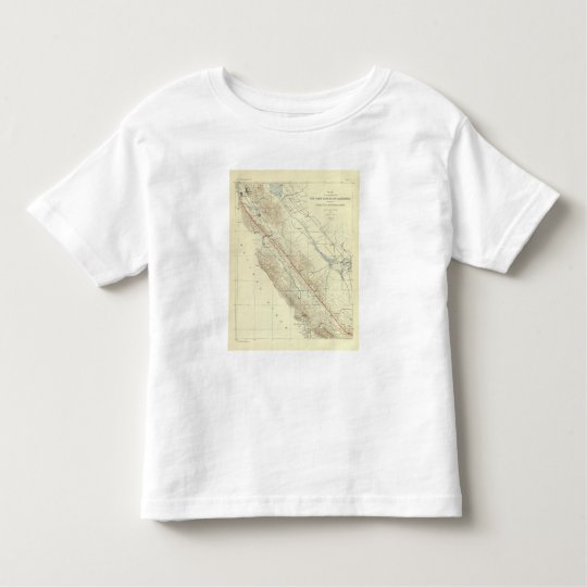 Coast Ranges showing San Andreas Rift Toddler T-shirt