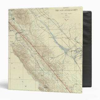 Coast Ranges showing San Andreas Rift Vinyl Binder