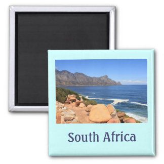 Coast Road to Cape Town, South Africa 2 Inch Square Magnet