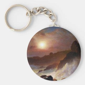 Coast Scene Mount Desert by Frederick Edwin Church Key Chain