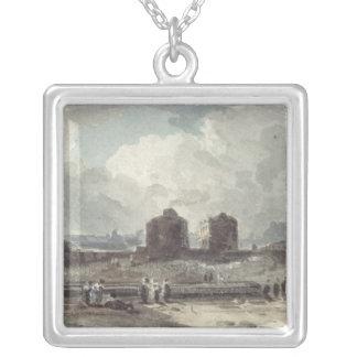 Coast Scene Silver Plated Necklace