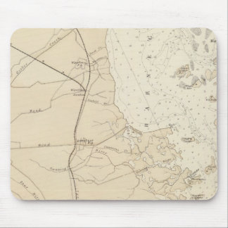 Coast section Barnegat Bay to Tuckerton Chart Map Mouse Pad