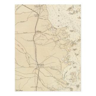 Coast section Barnegat Bay to Tuckerton Chart Map Post Card