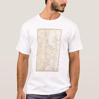 Coast section Barnegat Bay to Tuckerton Chart Map T-Shirt