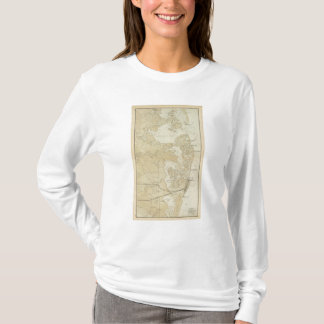Coast section Tuckerton to Absecon Beach Chart Map T-Shirt