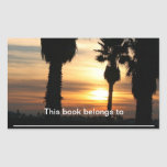 Coast Sunset Rectangular Sticker