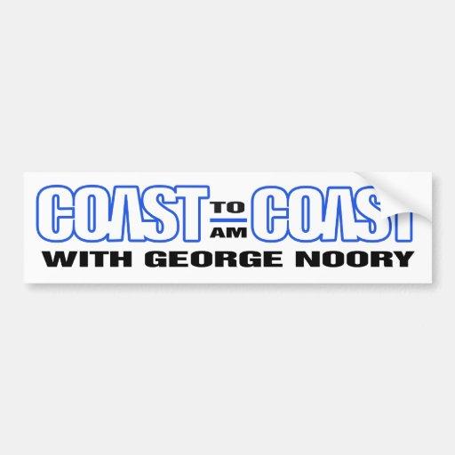 Coast To Coast AM Bumber Sticker (White w/ Blue)
