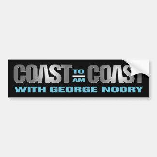 Coast To Coast AM Bumper Sticker