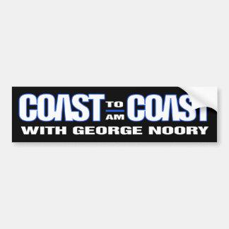 Coast To Coast AM Bumper Sticker (Black)