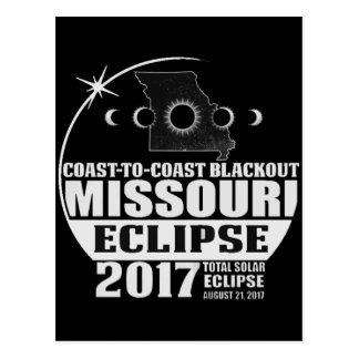 Coast to Coast Missouri Eclipse 2017 Postcard