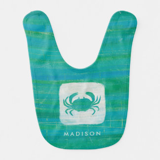 Coastal | Aqua Crab Baby Bib