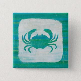 Coastal | Aqua Crab Button