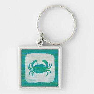 Coastal | Aqua Crab Keychain