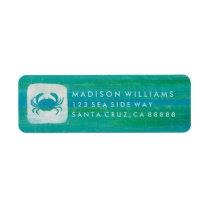 Coastal | Aqua Crab Label