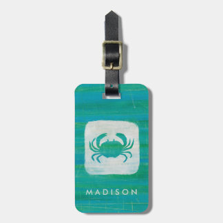 Coastal | Aqua Crab Luggage Tag