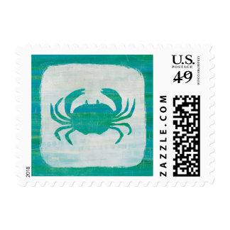 Coastal   Aqua Crab Postage
