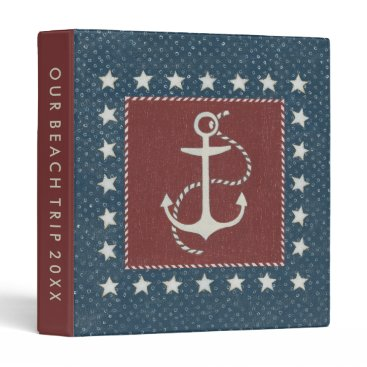USA Themed Coastal Art | Anchor on Red Binder