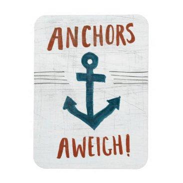 USA Themed Coastal Art | Anchors Away Magnet