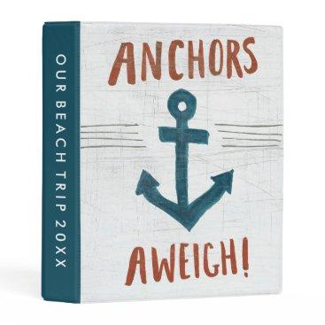 USA Themed Coastal Art | Anchors Away Mini Binder