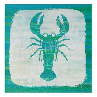 Coastal Art   Aqua Lobster
