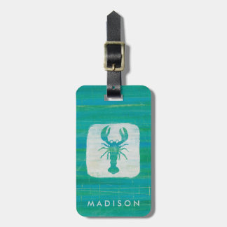 Coastal Art | Aqua Lobster Bag Tag