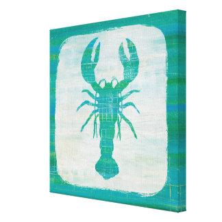 Coastal Art   Aqua Lobster Canvas Print