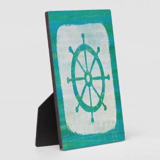 Coastal Art| Aqua Steering Wheel Plaque