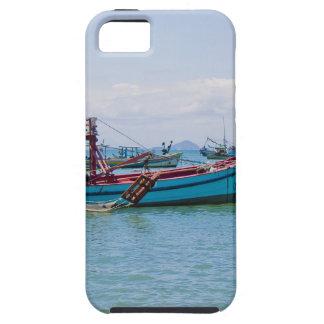 Coastal Art Blue Sea and Boats Photograph iPhone 5 Cover