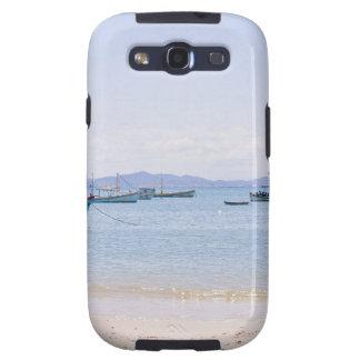 Coastal Art Blue Sea and Boats Photograph Galaxy SIII Cover