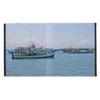 Coastal Art Blue Sea and Boats Photograph iPad Cases