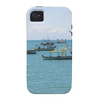 Coastal Art Blue Sea and Boats Photograph iPhone 4/4S Cases